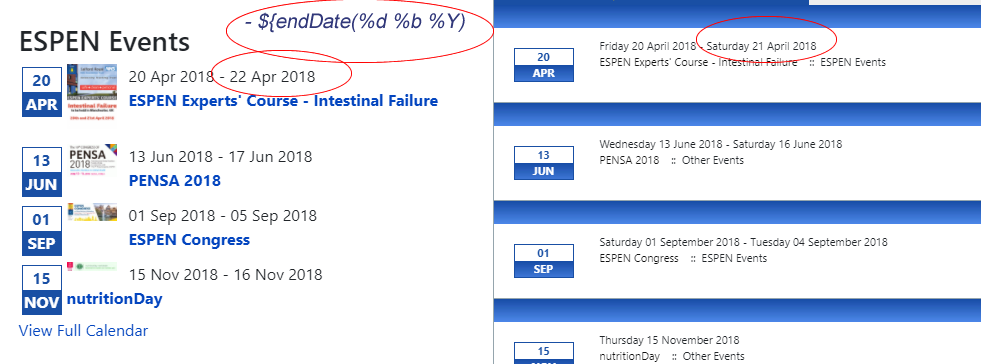 JEvents - Latest Events Module - Show End Date
